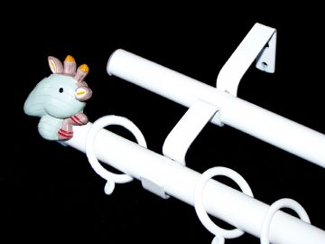 19/19mm Double Layer White Childrens GIRAFFE Curtain Pole 1.2m 1.5m 2.4m 3m